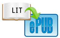 how to convert lit to epub