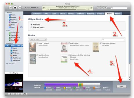 import pdf to ibooks directly via itunes