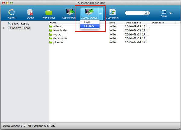how to transfer files from ipad to external hard drive