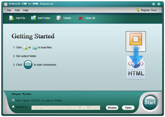 chm to html converter screenshot