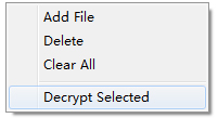 decrypt selected