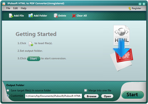 iPubsoft HTML to PDF Converter: Save Web Pages into PDF Easily