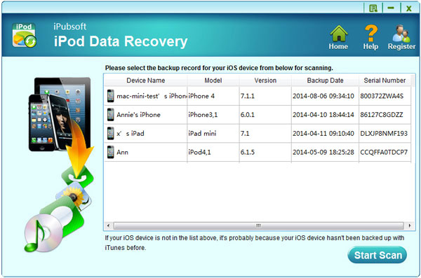 Windows 7 iPubsoft iPod Data Recovery 2.1.2 full