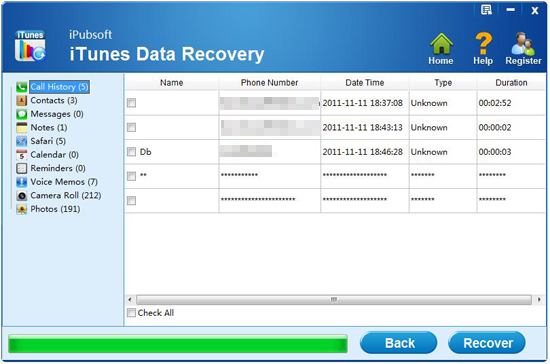 recover sms from iphone