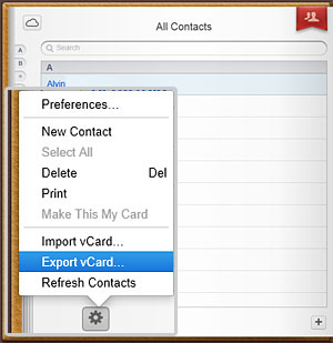 transfer icloud contacts to android