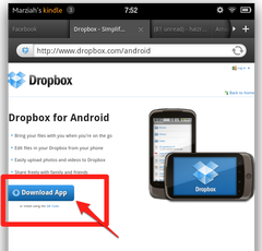 download dropbox to kindle fire