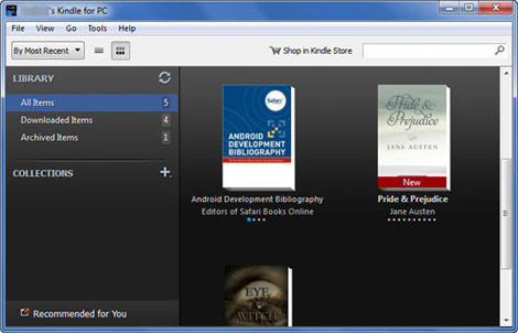 can you read kindle books on pc