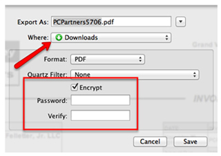 create password for pdf on mac