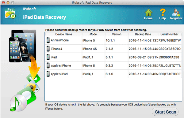 iPubsoft iPad Data Recovery for Mac 2.1.6 full