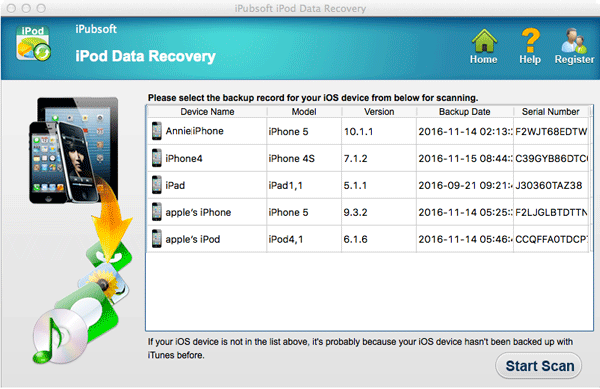 iPubsoft iPod Data Recovery for Mac 2.1.6 full