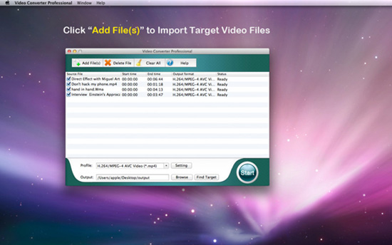 launch video converter for mac
